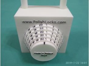 Polish Combination Lock - Super Toy and Test Print
