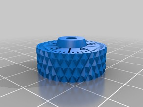 Thumbwheel with Dial for Wingnuts (Monoprice Maker Select / Wanhao Duplicator I3)