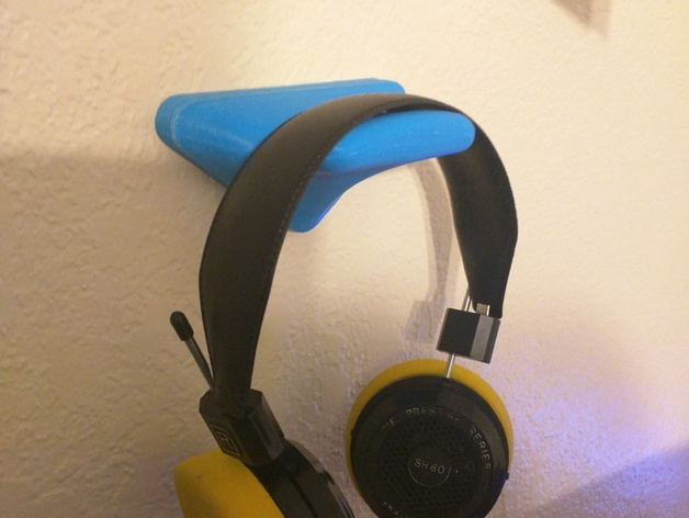 Wall mount headphone holder by franklima260 thingiverse - Wall mount headphone holder ...