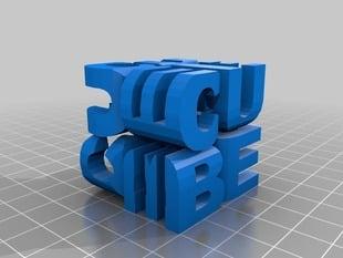cubo ambigrama 3d