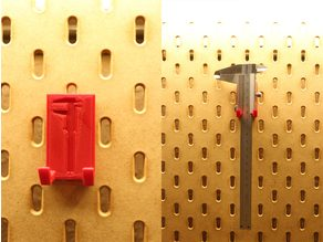 Caliper Holder for Ikea Skadis pegboard