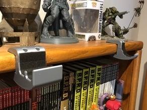 Caliburn Display Rack: Shelf-Mounted Clamp-On Brackets