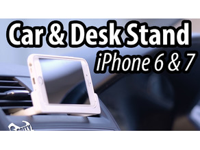 Car and Desk Stand for iPhone 6 & 7 (landscape)