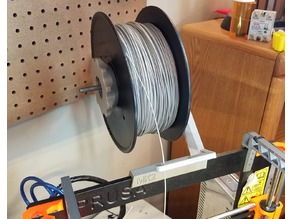 REmixed Prusa MK2 Threaded Bearing Spool holder w/filament guide