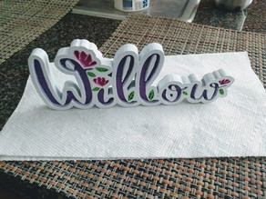 Willow Name Plate