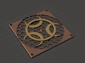 Biological Warning - Fan Cooler Grid - Grill - Shield 80x80