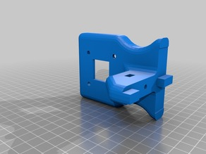 Rostock Max V2 extruder motor mount for use with Flex3drive