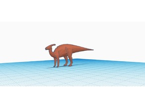 Low Polly Parasaurolophus