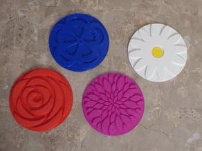 Flower Power Coaster Set
