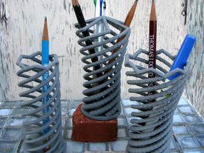 Helical Pencil Holders