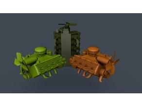 V8 Diesel Flathead Dummy 1/16 scale
