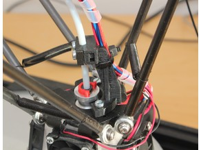 RobotDigg end effector for Kossel strain relief