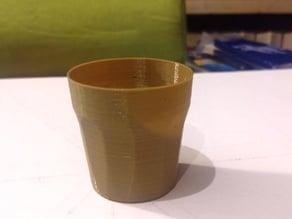 Shot glass spiral vase