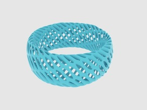 Twisted Diagrid Bracelet