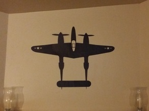 P-38 Wall Decal