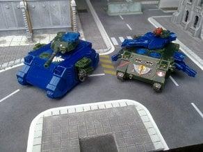 S.P.R.U.E. Space Marine tanks Rhino chassis