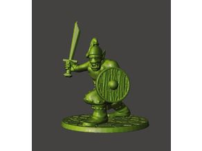 28mm - Orc / Goblin / Hobgoblin Miniature With Sword 1