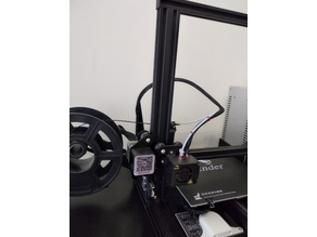 Ender 3 spool holder and wire guide remix