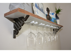 DIY Wine Glass Shelf