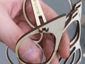 yet another set of plywood laser cut glasses