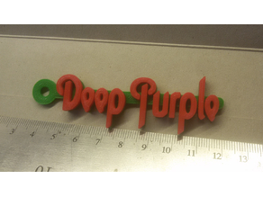 Deep Purple Logo Keychain