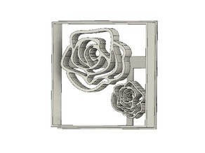 Roses cookie cutter