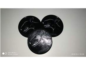 Coaster with Bull Dog Breeds