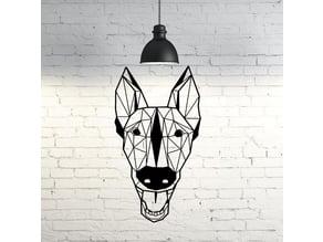 Trevor I Belgian Malinois dog wall sculpture 2D
