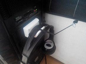 Headphone holder - TrackIR friendly - parametric