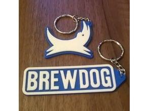Brewdog Keyrings x 2 - Keychain / Keyfob / Bag Charm