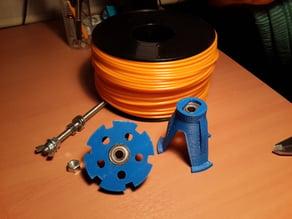 Low draft filament Spool Holder for Lulzbot - Mendel
