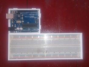 arduino + breadboard holder