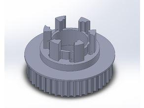 Longboard ABEC 11 Flywheels - Flywheel Clones - MBS All Terrain Wheels - CNC 42T Single Piece Pulley for 9mm, 12mm, 15mm Belts