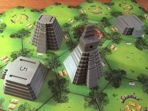 Tikal temple pieces (customizable interlock)