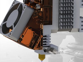 UP! extruder modification 4, Recreus Hot end