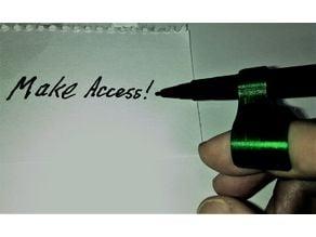 Parametric Finger Pen Holder (Vertical; No Support)
