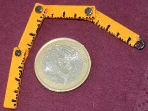 Daily Earring #19: Folding ruler