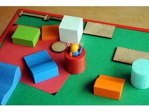 maquette salle de psychomotricité model of a psychomotor room 3d lasercut