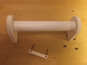 Paper towel holder with 40mm PVC pipe