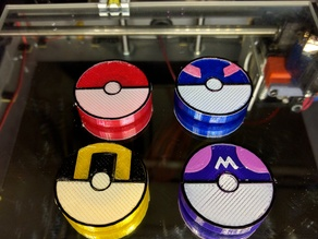 Poke Ball, Great Ball, Ultra Ball, and Master Ball Magnets (Pokemon)