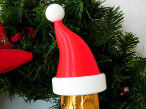 Santa Hat - Christmas decoration that fits onto the top of a bottle of Bubbly!