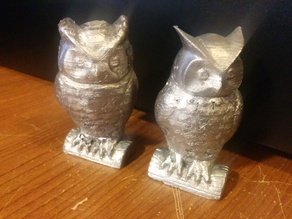 Owl Facing Left - Negative Mold for Low Melt Metal in ABS Casting
