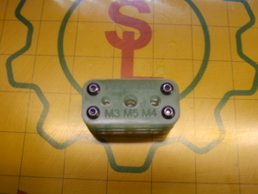 M3-M4-M5 Tap Guide - Laser Cut Acrylic