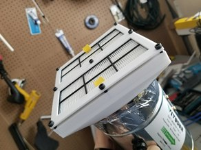 """Roomba 800-900 series HEPA filter to 4"""" duct adapter"""