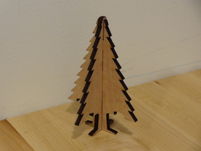 Christmas Tree Ornament Laser Cut Plywood