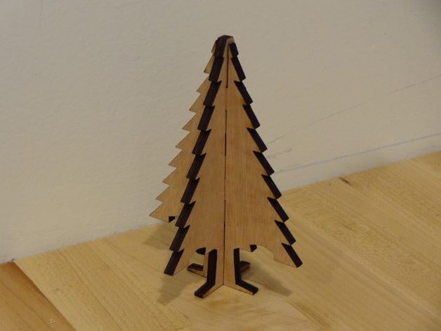 Christmas Tree Ornament Laser Cut Plywood By Tomkeddie