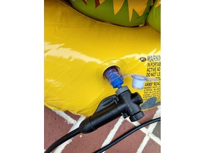 Bike pump/tire inflation adapter for pool toys