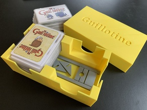 Insert/Organizer and Guillotine for the board game Guillotine