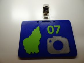 Ardeche multicolor ID card or badge holder