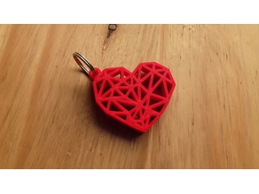 GEOMETRIC HEART KEY RING
